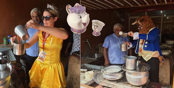 funny costumes tuk tuk race